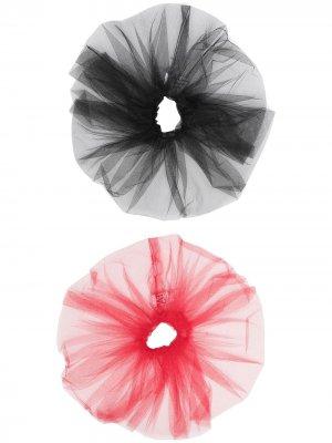 Набор резинок для волос Atu Body Couture. Цвет: черный