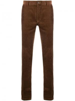 Corduroy slim-fit trousers Tiger Of Sweden. Цвет: коричневый