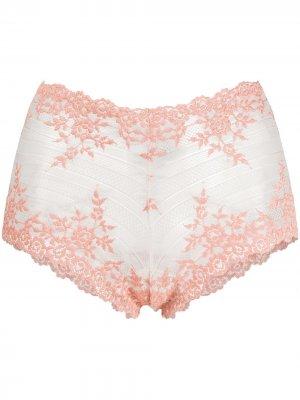 Кружевные трусы-шорты Embrace Wacoal. Цвет: розовый