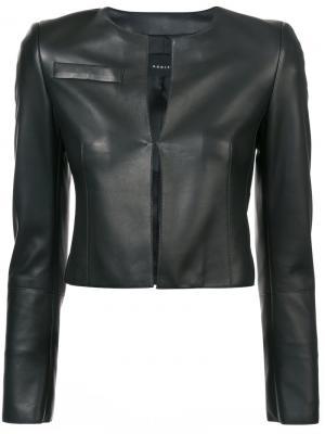 Укороченная приталенная куртка Akris. Цвет: черный