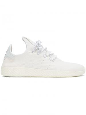 Кроссовки на шнуровке Adidas By Pharrell Williams. Цвет: белый
