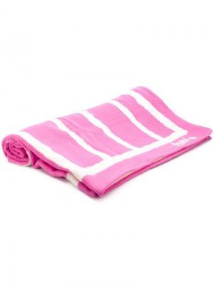 Полотенце в полоску TEKLA. Цвет: розовый