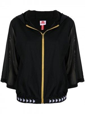 Куртка с короткими рукавами и логотипом Kappa. Цвет: черный