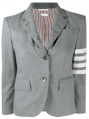 Пиджак с полосками 4-Bar Thom Browne. Цвет: серый