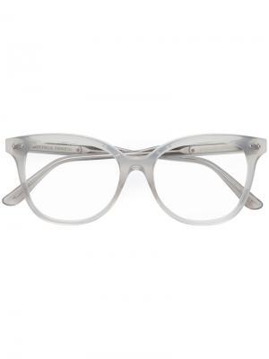 Очки в прозрачной оправе Bottega Veneta Eyewear. Цвет: серый
