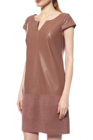 Платье Comma. Цвет: какао