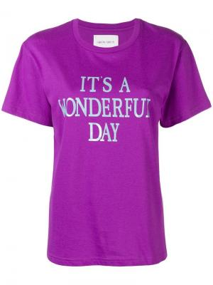 Its a Wonderful Day T-shirt Alberta Ferretti. Цвет: фиолетовый