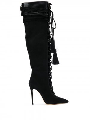Сапоги на шнуровке Aleksander Siradekian. Цвет: черный