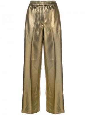 Wide leg trousers 8pm. Цвет: металлик