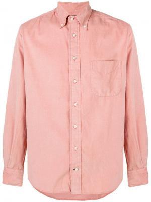 Рубашка на пуговицах Gitman Vintage. Цвет: розовый