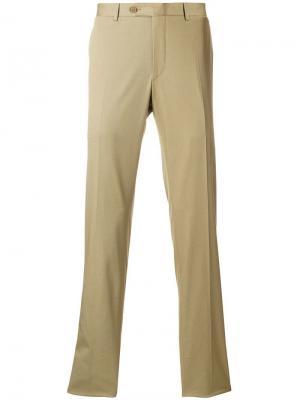 Классические брюки Canali. Цвет: нейтральные цвета
