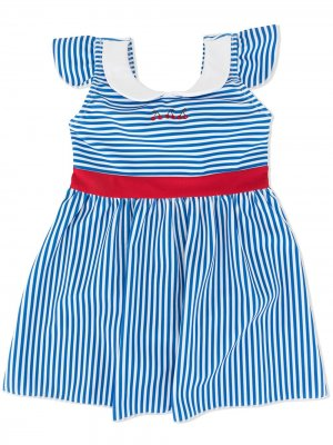 Купальник с вышивкой Familiar. Цвет: синий