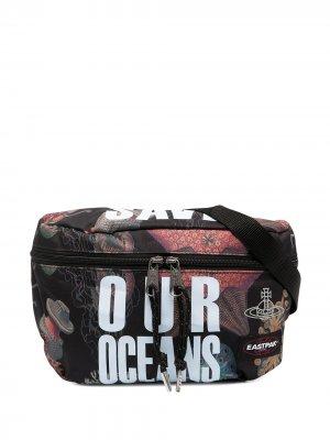 Поясная сумка Save Our Oceans Eastpak. Цвет: черный