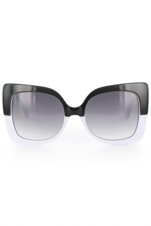 Очки солнцезащитные Byblos. Цвет: черно-белый