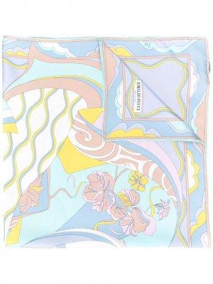 Платок с принтом Emilio Pucci. Цвет: синий