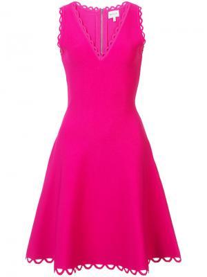 Платье с волнистым подолом Milly. Цвет: розовый