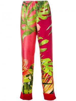 Пижамные брюки с принтом F.R.S For Restless Sleepers. Цвет: красный