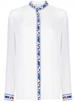 Рубашка с геометричным принтом Emilio Pucci. Цвет: белый
