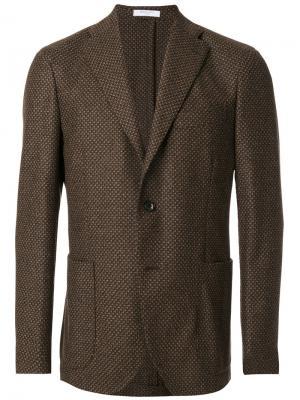 Однобортный пиджак Boglioli. Цвет: коричневый
