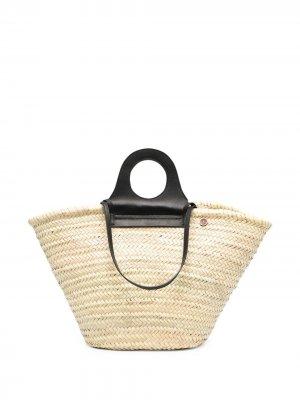 Пляжная сумка-тоут catarzi. Цвет: нейтральные цвета