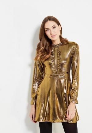 Платье Fornarina. Цвет: золотой