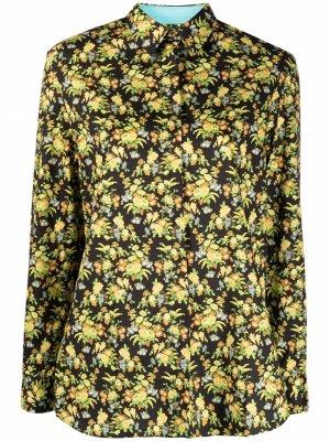 Рубашка с цветочным принтом PAUL SMITH. Цвет: желтый