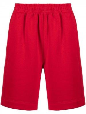 Спортивные шорты с нашивкой-логотипом Styland. Цвет: красный