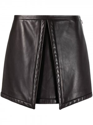 Юбка мини pre-owned со складкой Louis Vuitton. Цвет: коричневый