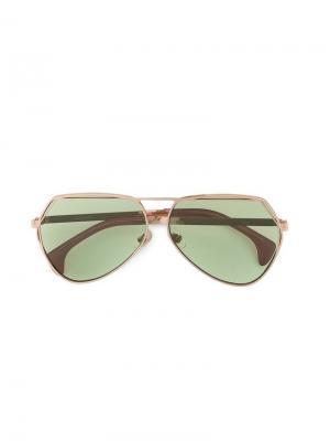 Солнцезащитные очки Taj Wildfox. Цвет: металлик