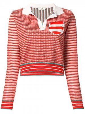 Трикотажная рубашка-поло Fendi. Цвет: оранжевый