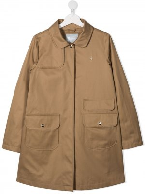 Пальто с карманами Herno Kids. Цвет: нейтральные цвета