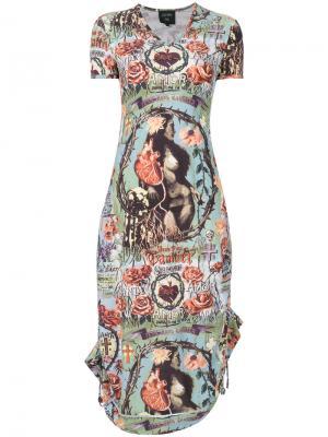 Платье с принтом Jean Paul Gaultier Vintage. Цвет: разноцветный