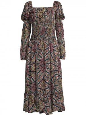 Платье со сборками Nicole Miller. Цвет: черный