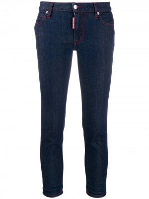 Укороченные джинсы скинни Dsquared2. Цвет: синий