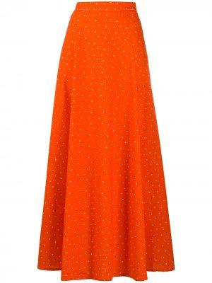 Расклешенная рубашка в горох C'Est La V.It. Цвет: оранжевый