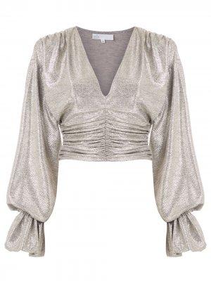 Блузка Lunar Zoe с эффектом металлик Nk. Цвет: золотистый