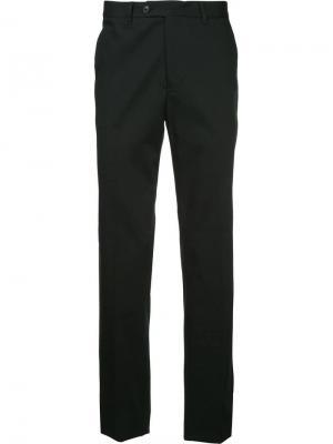 Классические приталенные брюки Gieves & Hawkes. Цвет: черный