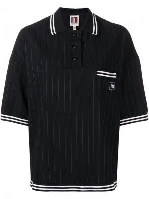 Pinstripe polo shirt I'M Isola Marras. Цвет: черный