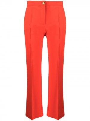 Расклешенные брюки с завышенной талией Pinko. Цвет: красный