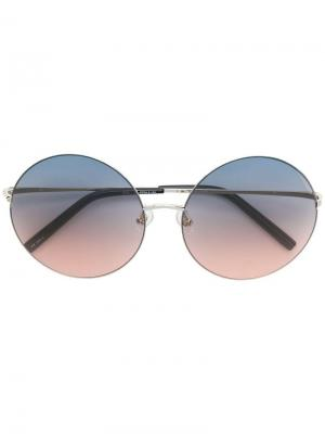 Round gradient sunglasses Matthew Williamson. Цвет: металлик