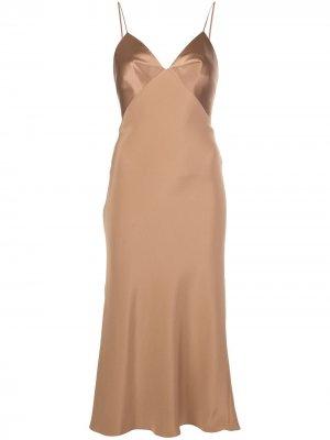 Платье миди Cushnie. Цвет: коричневый