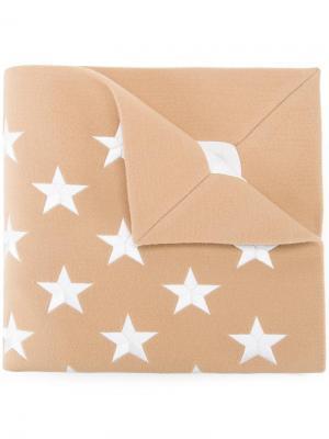 Шарф со звездами Gareth Pugh. Цвет: коричневый