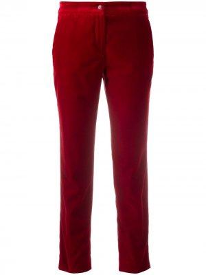 Укороченные бархатные брюки Etro. Цвет: красный