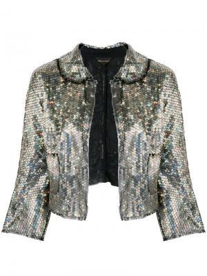 Укороченный пиджак с пайетками Comme Des Garçons Pre-Owned. Цвет: золотистый