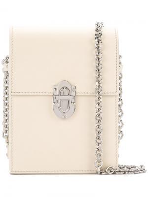 Chain crossbody bag Bertoni 1949. Цвет: белый