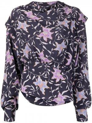 Блузка с цветочным принтом Isabel Marant Étoile. Цвет: синий
