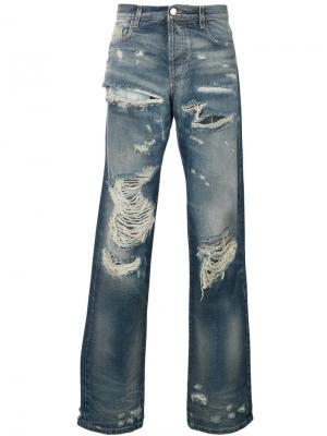 Классические джинсы с рваным эффектом Faith Connexion. Цвет: синий