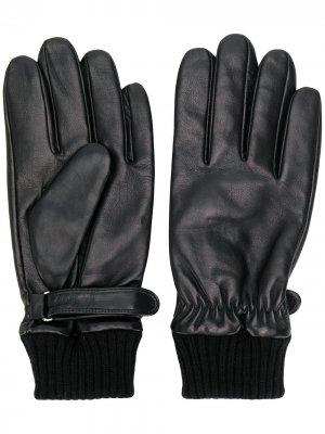 Перчатки с ремешками Karl Lagerfeld. Цвет: черный