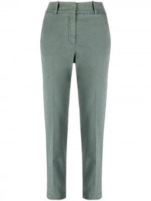 Укороченные зауженные брюки Peserico. Цвет: зеленый