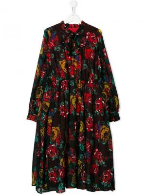 TEEN floral printed dress Marco Bologna Kids. Цвет: черный